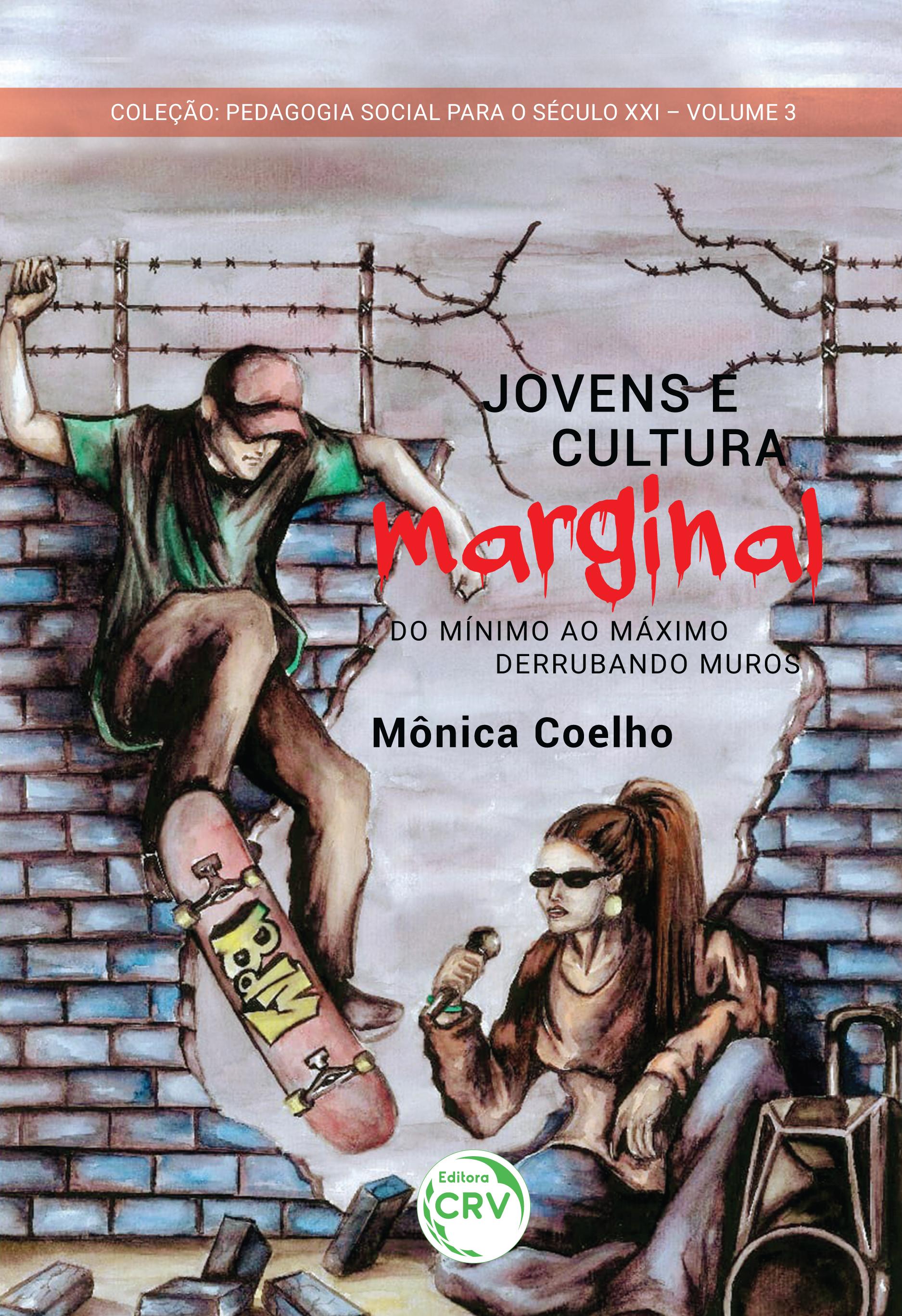 Capa do livro: JOVENS E CULTURA MARGINAL:<br> do mínimo ao máximo – derrubando muros <br>Pedagogia social para o século XXI <br>Volume 3