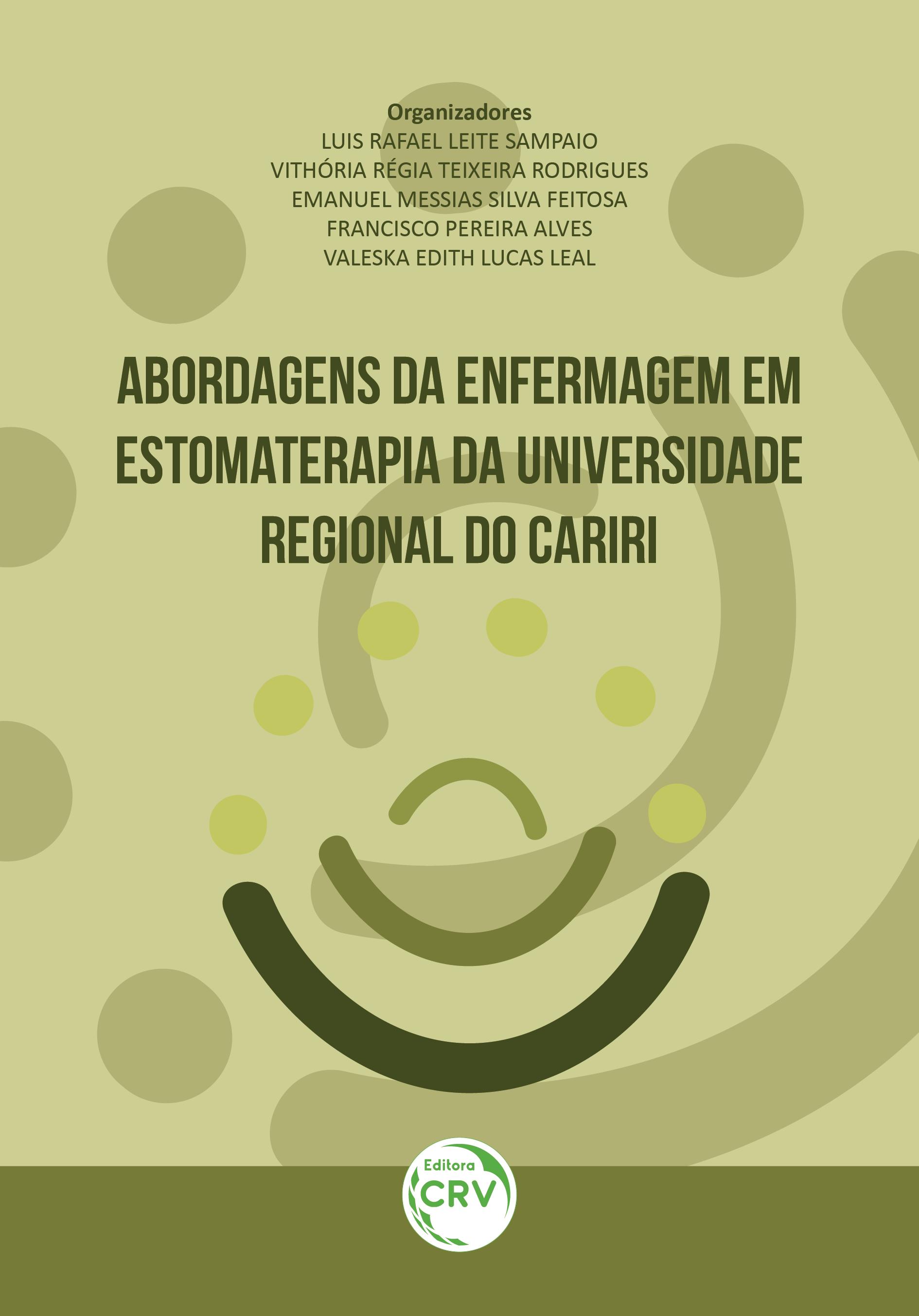 Capa do livro: ABORDAGENS DA ENFERMAGEM EM ESTOMATERAPIA DA UNIVERSIDADE REGIONAL DO CARIRI