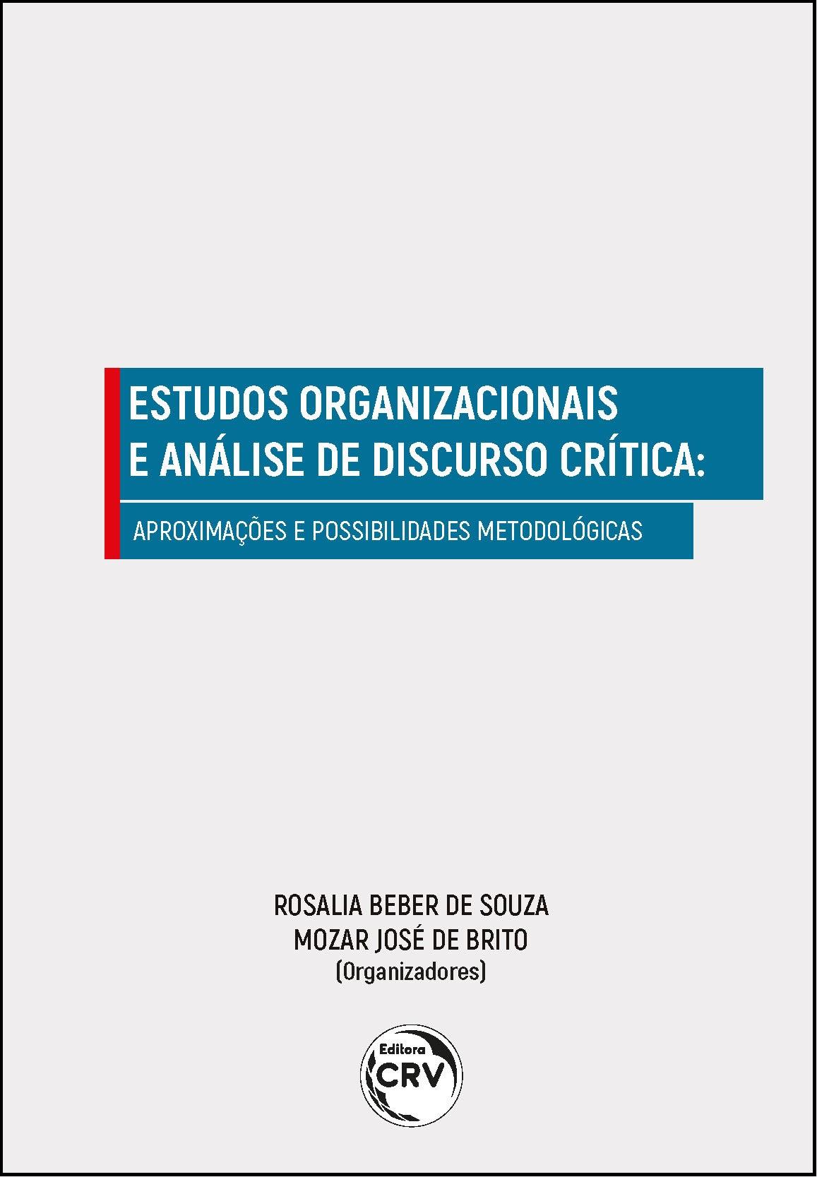 Capa do livro: ESTUDOS ORGANIZACIONAIS E ANÁLISE DE DISCURSO CRÍTICA:<br>aproximações e possibilidades metodológicas