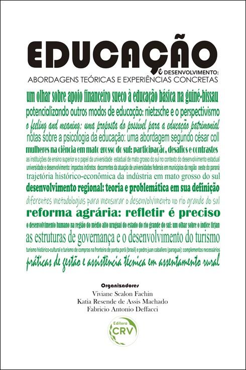 Capa do livro: EDUCAÇÃO E DESENVOLVIMENTO:<br> abordagens teóricas e experiências concretas