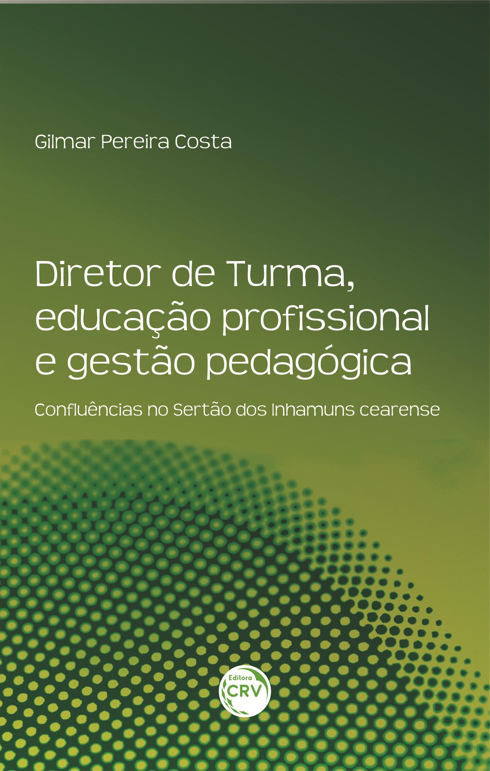 Capa do livro: DIRETOR DE TURMA, EDUCAÇÃO PROFISSIONAL E GESTÃO PEDAGÓGICA:  <br>confluências no Sertão dos Inhamuns cearense