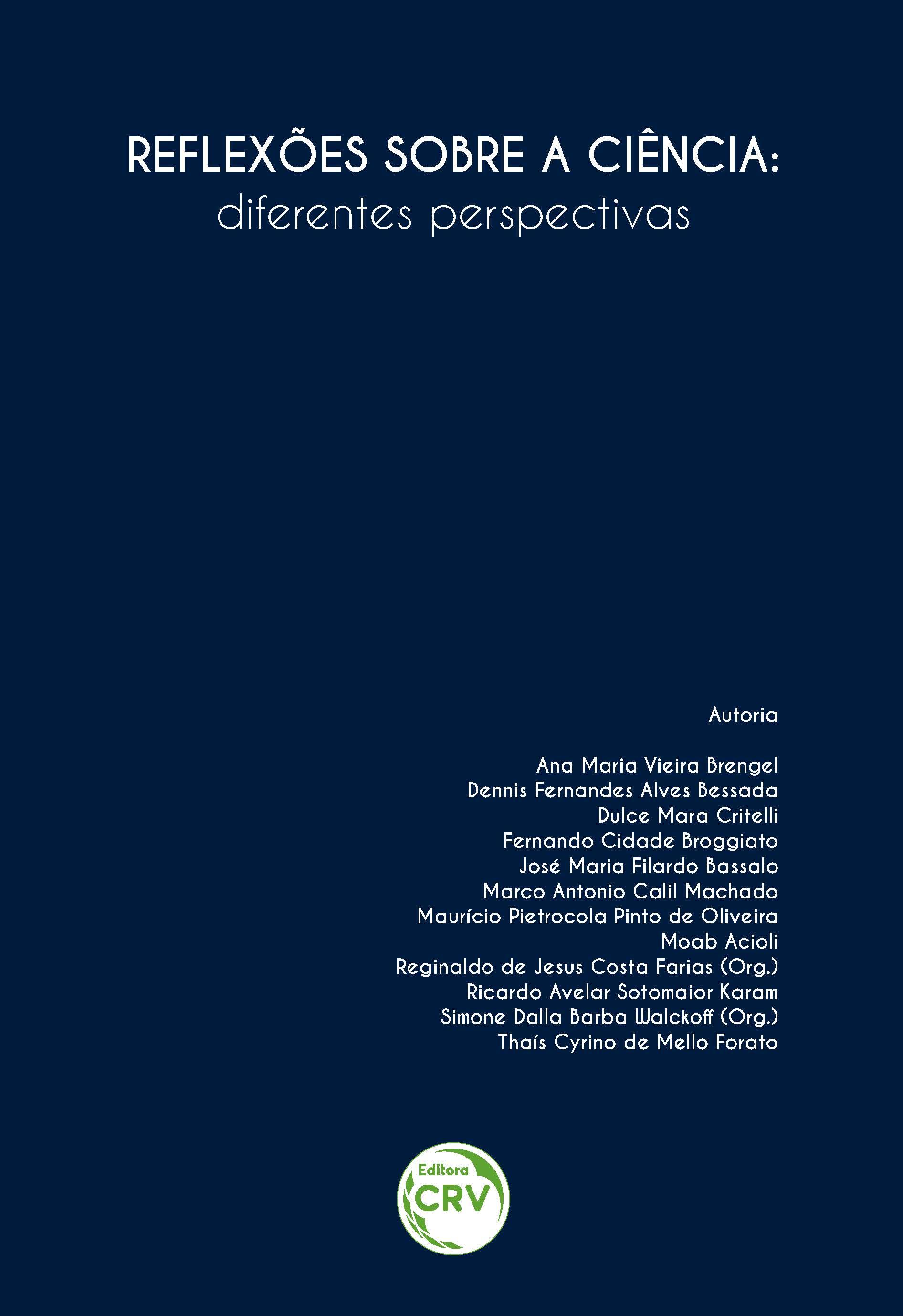 Capa do livro: REFLEXÕES SOBRE A CIÊNCIA:<br>diferentes perspectivas
