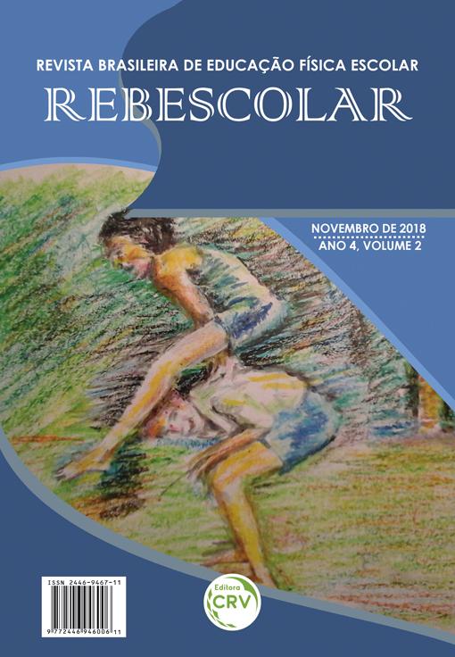 Capa do livro: ANO IV – VOLUME II – NOVEMBRO 2018 <br>REVISTA BRASILEIRA DE EDUCAÇÃO FÍSICA ESCOLAR - REBESCOLAR