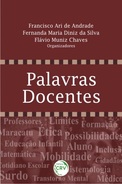 Capa do livro: PALAVRAS DOCENTES