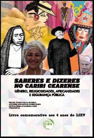 Capa do livro: SABERES E DIZERES NO CARIRI CEARENSE: gêneros, religiosidades, africanidades e segurança pública