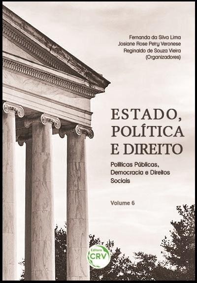 Capa do livro: ESTADO, POLÍTICA E DIREITO:<br>políticas públicas, democracia e direitos sociais<br>Volume 6