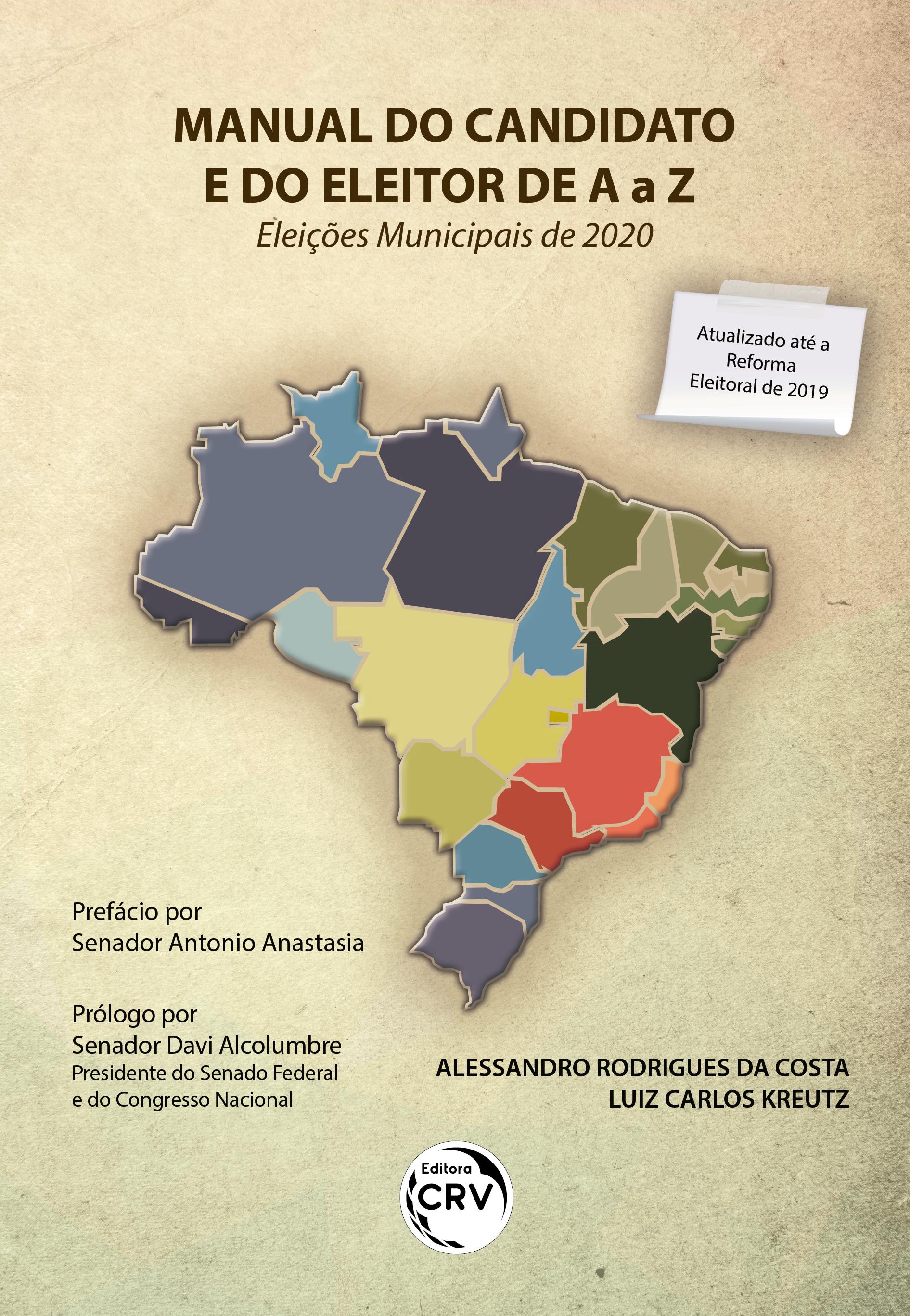 Capa do livro: MANUAL DO CANDIDATO E DO ELEITOR DE A a Z – ELEIÇÕES MUNICIPAIS DE 2020